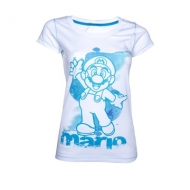 Nintendo - T-Shirt femme Blue Mario