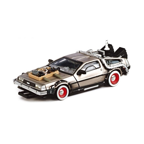 retour vers le futur iii dmc delorean 1 43 m tal figurine discount. Black Bedroom Furniture Sets. Home Design Ideas