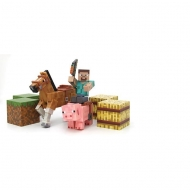 Minecraft - Pack 5 figurines Saddle 8 cm