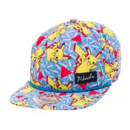 Pokemon - Casquette hip hop Snap Back Pikachu All Over
