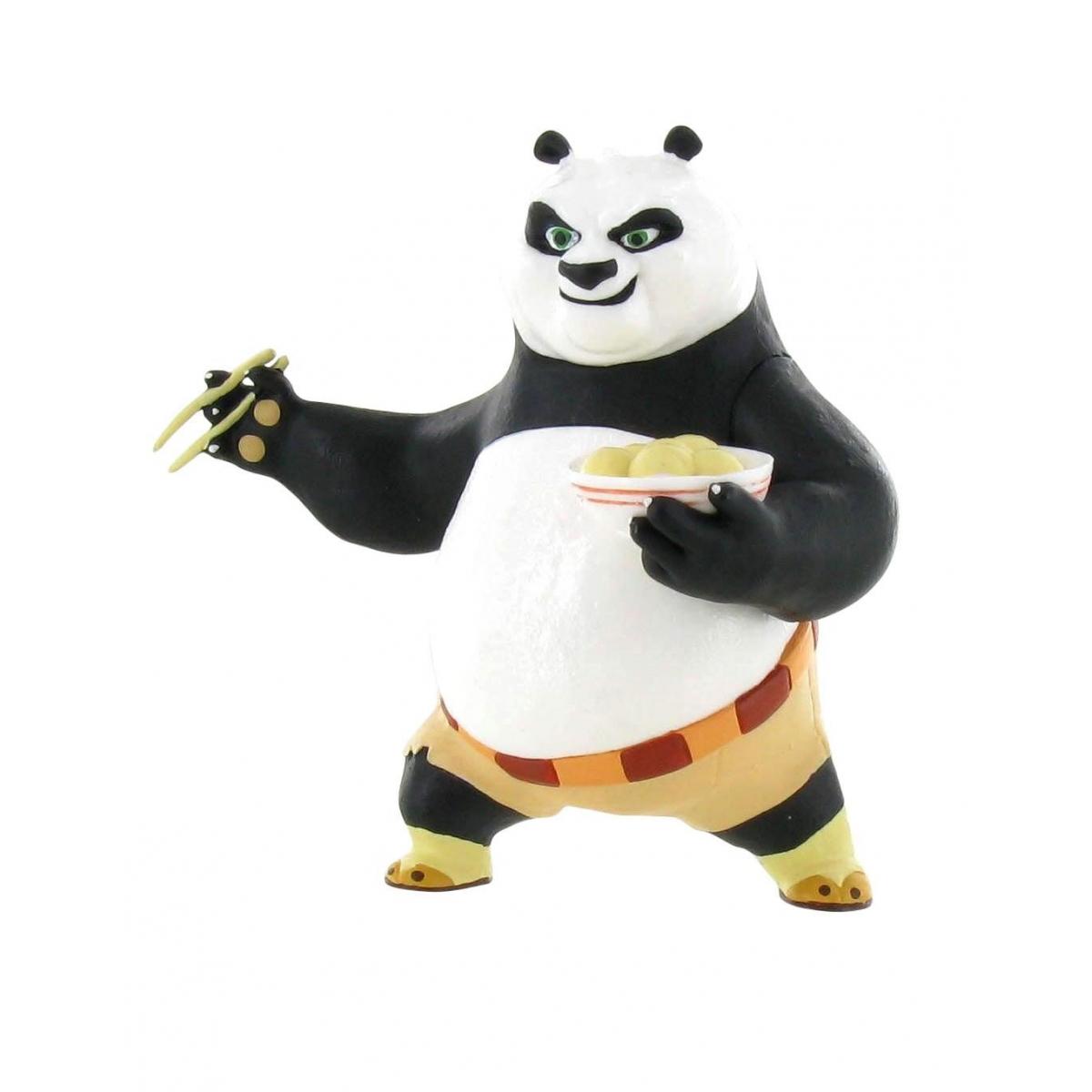 kung fu panda mini figurine po eating 8 cm figurine discount. Black Bedroom Furniture Sets. Home Design Ideas