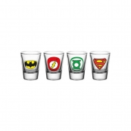 DC Comics - Set 4 verres à liqueur Logo Mix