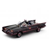 DC Comics - Batman 1966 pack 2 figurines flexibles et véhicule Batmobile avec Batman et Robin