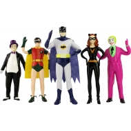 Batman 1966 - Pack 5 figurines flexibles 14 cm