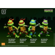 Les Tortues ninja - Pack 4 figurines Mini Hybrid Metal 7 cm