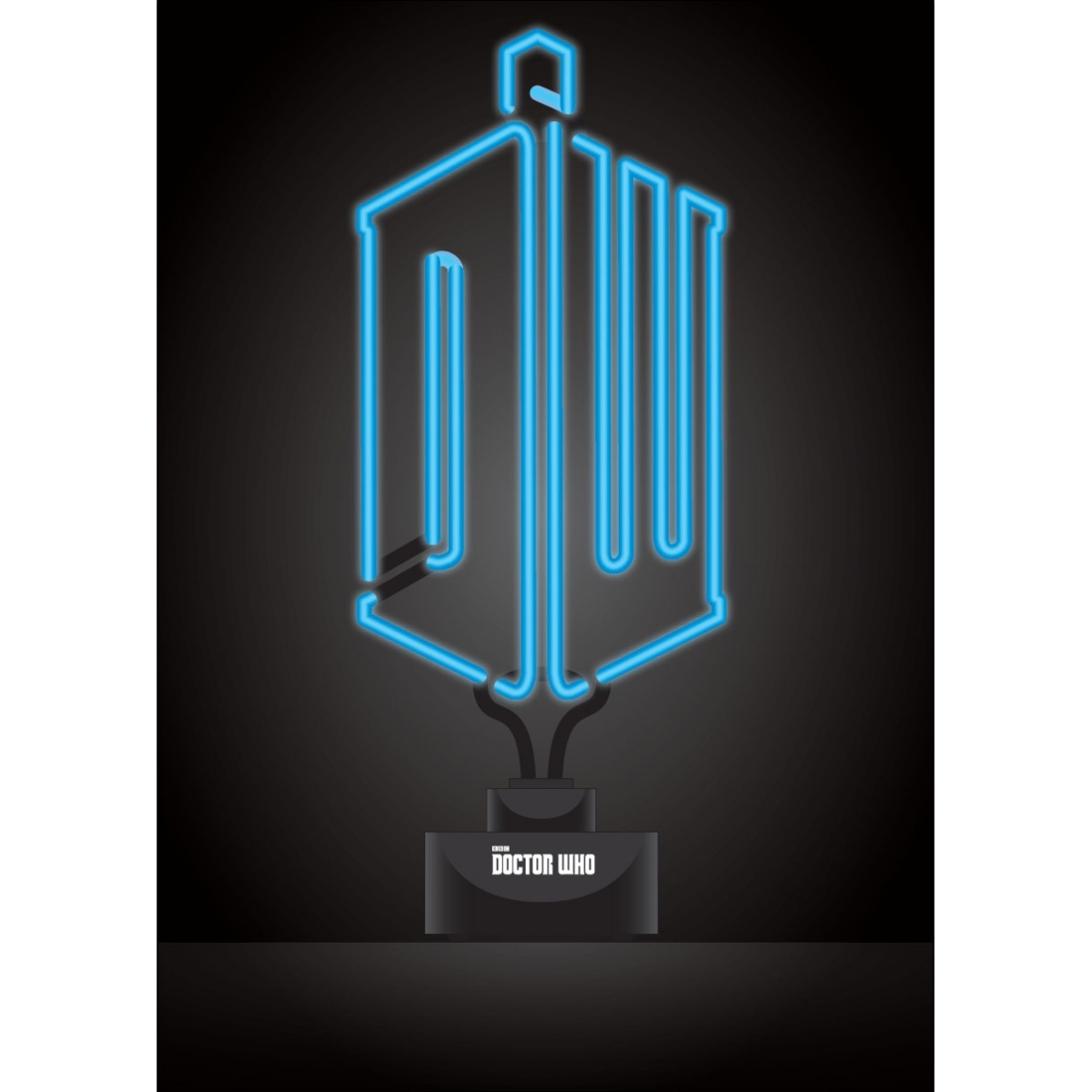 doctor who lampe neon logo 20 x 44 cm figurine discount. Black Bedroom Furniture Sets. Home Design Ideas