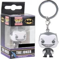 DC Comics - Porte-clés Pocket POP! Vinyl Joker B&W 4 cm