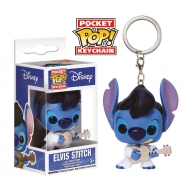 Lilo & Stitch - Porte-clés Pocket POP! Elvis Stitch 4 cm