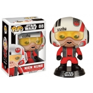 Star Wars Episode VII - Figurine POP! Bobble Head Nien Nunb avec Casque Limited Edition 9 cm