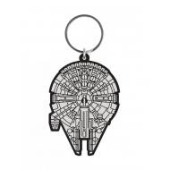 Star Wars - Porte-clés caoutchouc Millennium Falcon 6 cm