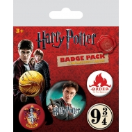 Harry Potter - Pack 5 badges Gryffindor