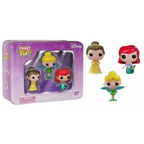 Disney - Pack Pocket Pop Tin 3 Clochette Ariel Belle