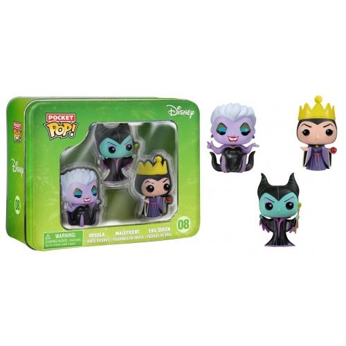 Disney - Figurines Pocket Pop Pack Malefique Ursula et Evil Queen