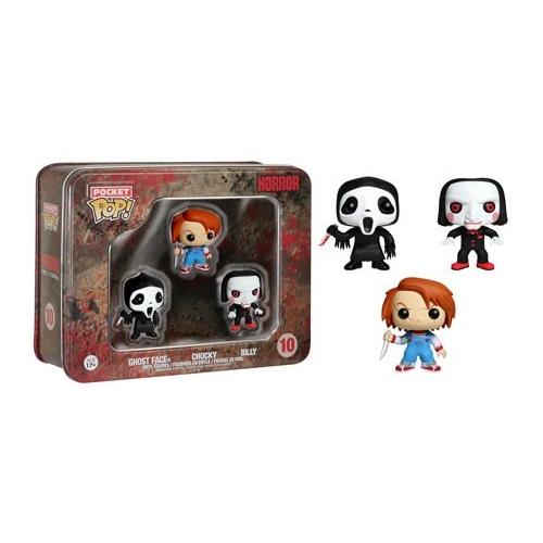 Horror - Pack Pocket Pop Tin 3 Chucky Ghostface Billy