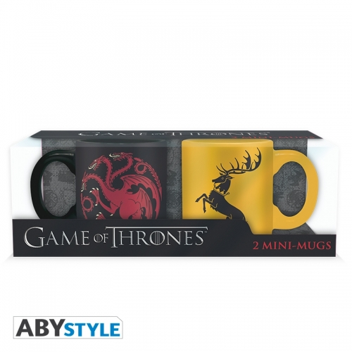 Game Of Thrones - Set 2 mini-mugs Targaryen & Baratheon