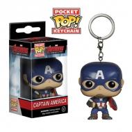Avengers - Porte Clés POP! Captain America 4cm