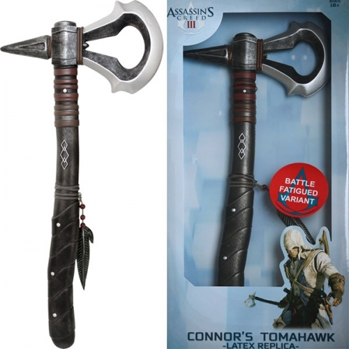 Assassin's Creed III - Réplique Tomahawk de Connor version uséee 40cm