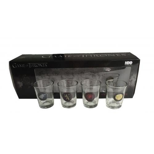 Game of Thrones - Set 4 verres à liqueur