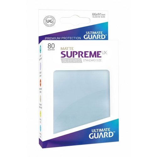 Ultimate Guard - 80 pochettes Supreme UX Sleeves taille standard Transparent Mat