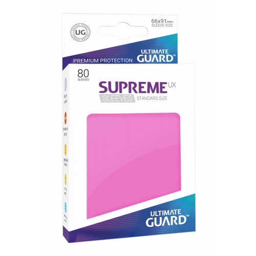 Ultimate Guard - 80 pochettes Supreme UX Sleeves taille standard Rose