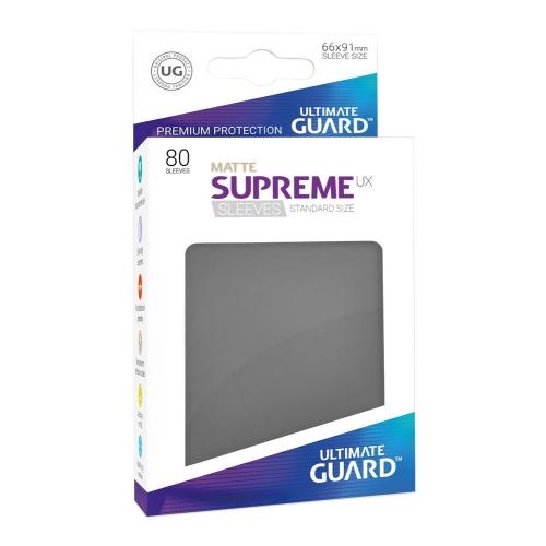 Ultimate Guard - 80 pochettes Supreme UX Sleeves taille standard Gris Foncé Mat