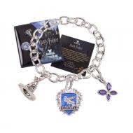 Harry Potter - Bracelet avec pendentifs plaqué argent Lumos Ravenclaw