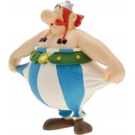 Astérix - Figurine Obelix tenant son pantalon 8 cm