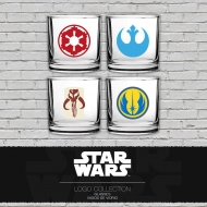 Star Wars - Pack 4 verres Classic Logos