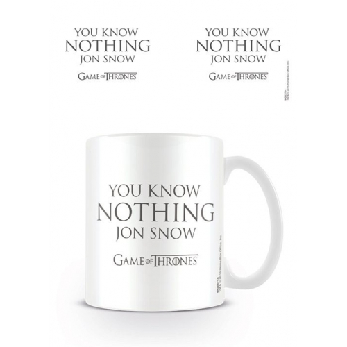 Game of Trones - Mug You Know Nothing Jon Snow
