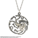 Games of Throne - Pendentif et collier argent Targaryen