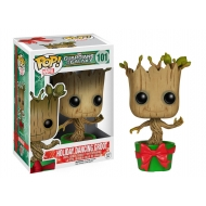 Les Gardiens de la Galaxie - Figurine POP! Bobble Head Holiday Dancing Groot 10 cm