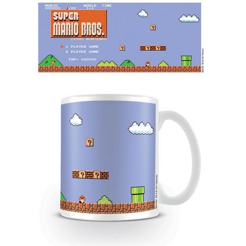 Super Mario Bros - Mug Retro Title