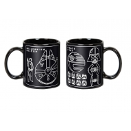 Star Wars - Mug Millennium Falcon & Death Star Blueprint