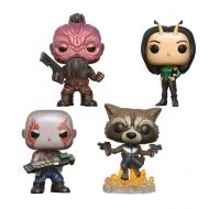 Les Gardiens de la Galaxie 2 - Pack 4 Figurines POP! Marvel Set I 9 cm