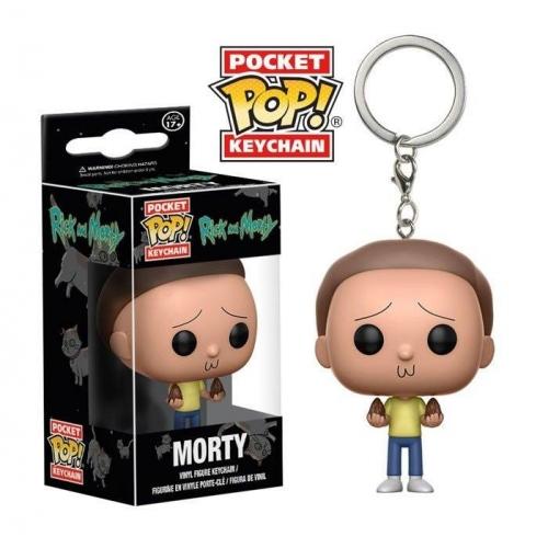 Rick et Morty - Porte-clés Pocket POP! Morty 4 cm