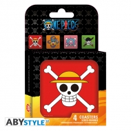 One Piece - Set 4 Dessous de verre Skulls