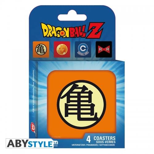 Dragon Ball - Set 4 Dessous de verre Symboles