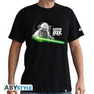 Star Wars - T-shirt Yoda homme black