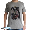 Naruto Shippuden - T-shirt homme groupe gris