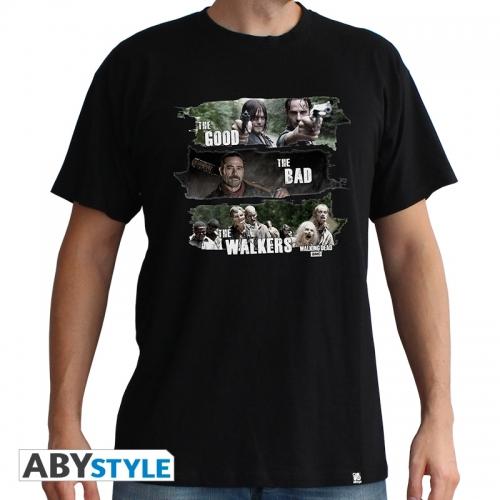 The Walking Dead - T-shirt homme Good,Bad,Walkers