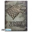 Game Of Thrones - Plaque métal Stark (28x38)
