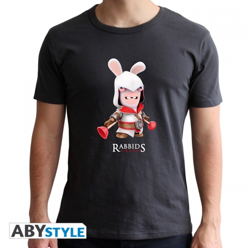 Lapins Cretins - Tshirt Spoof Assassin homme dark grey