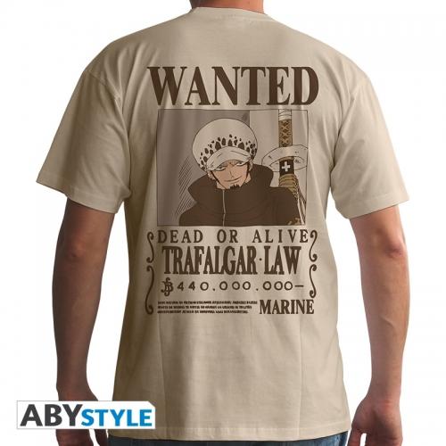 One Piece - Tshirt homme Wanted Trafalgar Law