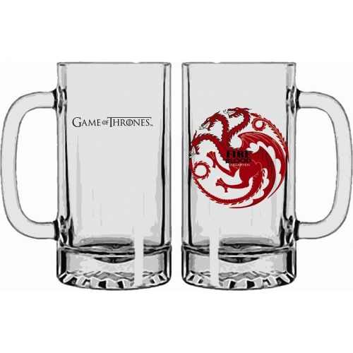 Game of Thrones - Chope en verre Targaryen