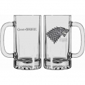 Game of Thrones - Chope en verre Stark Winter is Coming