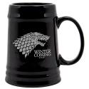 Game of Thrones - Chope en céramique noir Stark Winter is Coming Chope