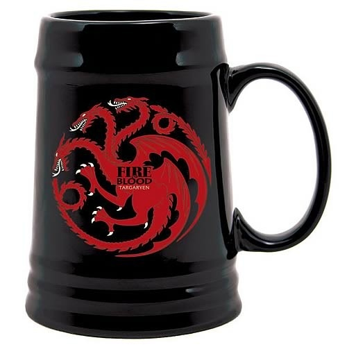 Game of Thrones - Chope céramique Noir Targaryen