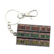 Retour vers le Futur - Porte-clés métal Time Control 7 cm