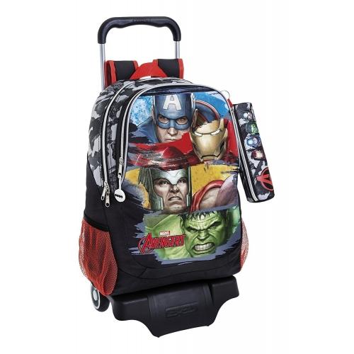 Avengers Assemble -Sac à Avenger 43cm avec trolley et sa trousse.