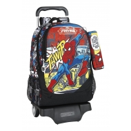 Spider Man Homecoming - Sac à dos Spider-Man Homecoming 44cm avec trolley et sa trousse.